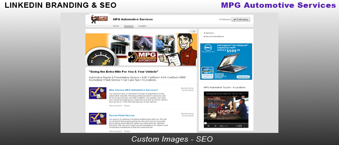 MPG Automotive Services - LinkedIn Branding & SEO