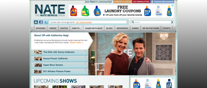 Sony's The Nate Berkus Show - A Joomla! Website