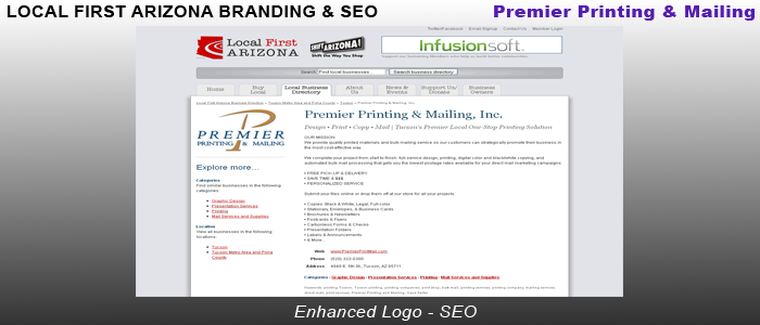 Premier Printing & Mailing - Local First Arizona Branding & SEO
