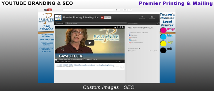 Premier Printing & Mailing - YouTube Branding & SEO