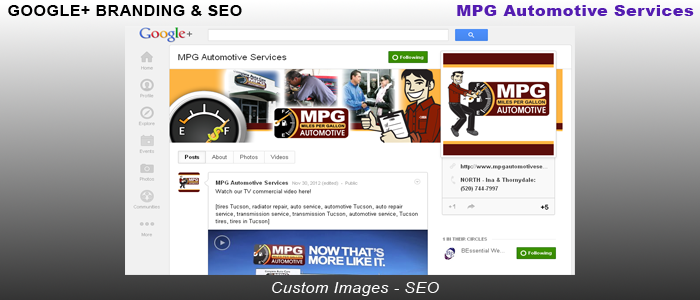 MPG Automotive Services - Google+ Branding & SEO