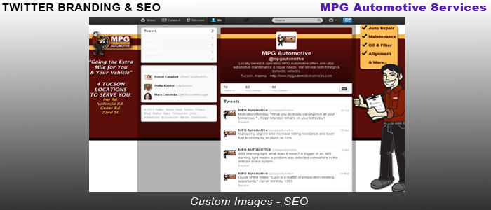 MPG Automotive Services - Twitter Branding & SEO